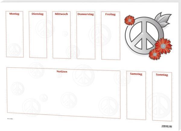 RNK Schreibunterlage 60x42cm 46611 Love & Peace