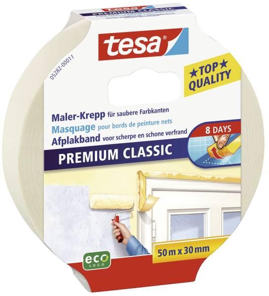 Papier Klebeband Maler Krepp Classic, 50 m x 30 mm, beige