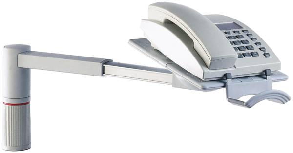 Telefon Schwenkarm ScopeMaster lichtgrau Telefonschwenker, lichtgrau, 2 kg