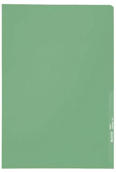 4000 Standard Sichthülle A4 PP Folie, genarbt, grün, 0,13 mm