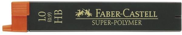 Feinmine SUPER POLYMER, 0,9 1 mm, HB, tiefschwarz, 12 Minen
