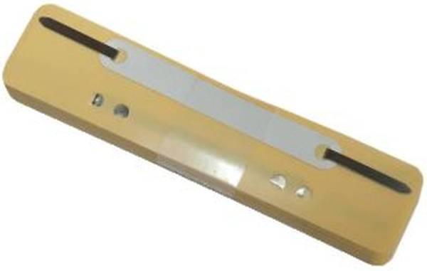 Q-CONNECT Heftstreifen PP 34x150mm 25ST gelb 2012500210 Plastikdeckleiste