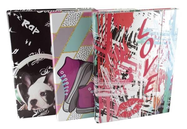 Heftbox Teens Girls A4, sortiert