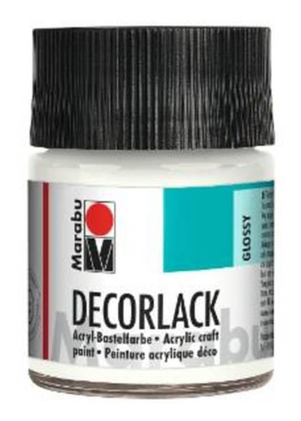 Decorlack Acryl, weiß 070, 50 ml