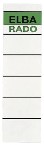 Einsteck Rückenschilder breit kurz, weiß, 10 Stück, grüner Logoaufdruck