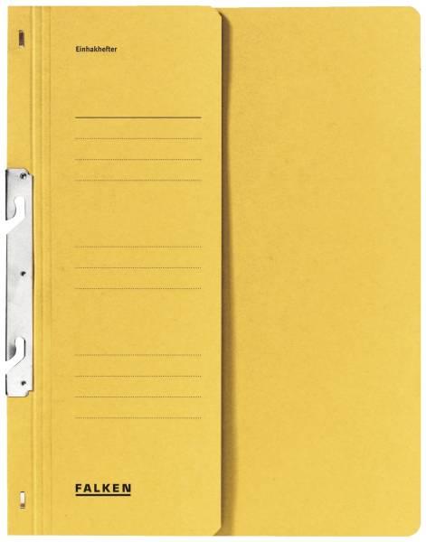 Einhakhefter A4 1 2 Vorderdeckel kfm Helfung, gelb, Manilakarton, 250 g qm