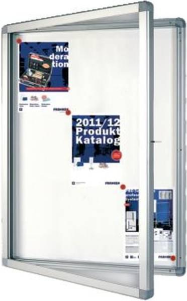 Schaukasten ECO Outdoor 9x A4, 75 x 101,1 x 4,5 cm, weiß, magnethaftend