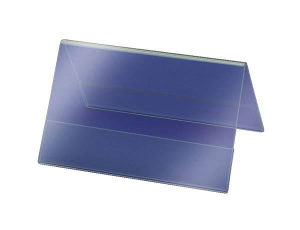 SIGEL Tischaufsteller 10x6 cm glasklar 10 St. TA136 inkl. Einsteckkarten