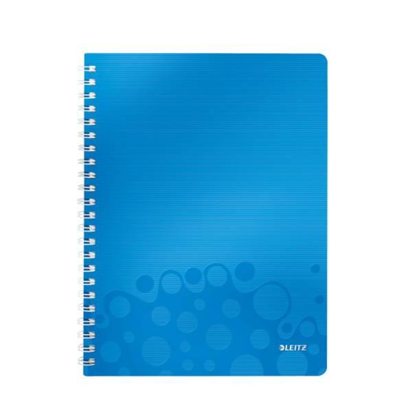 LEITZ Collegeblock A4 Wow blau metallic 4637-00-36 80Bl liniert