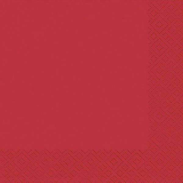 Serviette Zelltuch uni 33 x 33 cm rot