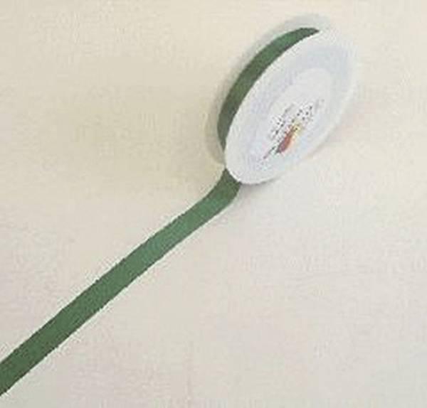 Doppelsatinband 15 mm x 25 m, dunkelgrün