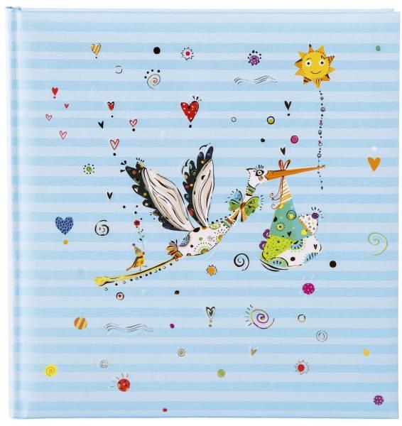 Fotobuch Unser Kind Adebar blau