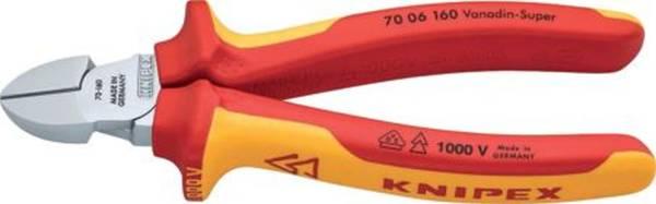 KNIPEX Seitenschneider 16cm rot/gelb 7006160/0302199