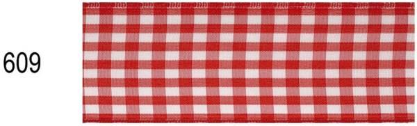 Zierb.Draht Karo rot/weiß 19 4020-609 40 mm 20 m