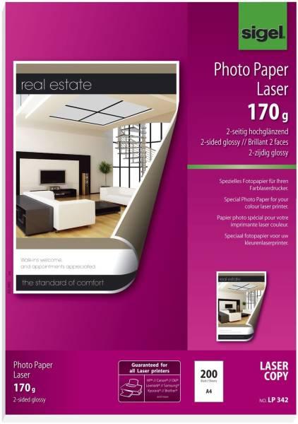 Fotopapier für Farb Laser Kopierer A4, 2 seitig hochglänzend, 170 g qm, 200 Blatt