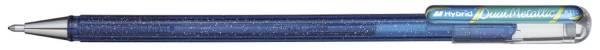 PENTEL Gelschreiber blau/metallic grün K110-DCX