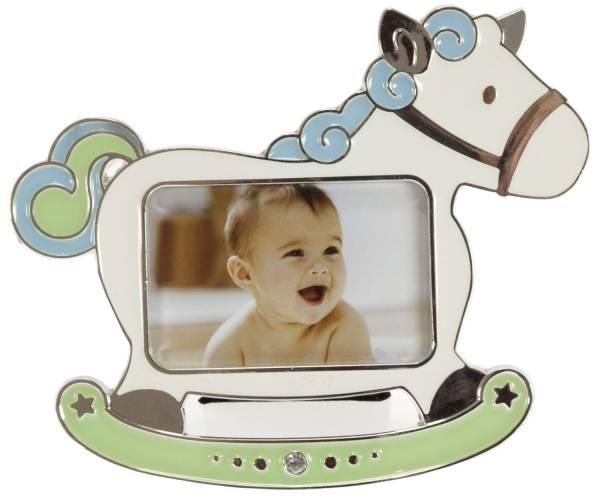 GOLDBUCH Fotorahmen Baby Pferd blau 960190