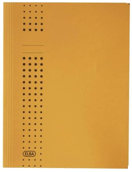 Sammelmappe chic, Karton (RC), 320 g qm, A4, 10 mm, gelb