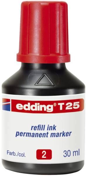 T 25 Nachfülltusche für Permanentmarker, 30 ml, rot