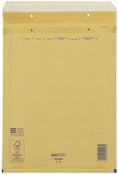 Luftpolstertaschen Nr 7, 230x340 mm, braun, 10 Stück