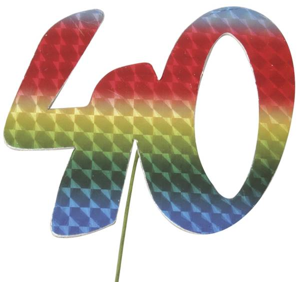 Jubiläumszahl 40 bunt