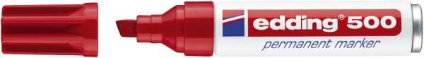 EDDING Permanentmarker 500 2-7mm rot 500-002 Keilspitze nachfüllbar
