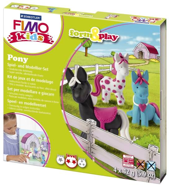 "Modelliermasse Kids Materialpackung Form & Play ""Pony"", 4 x 42 g®"