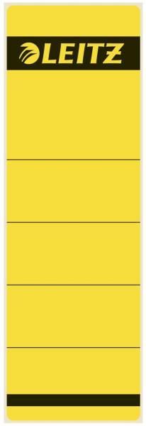 1642 Rückenschilder Papier, kurz breit, 10 Stück, gelb