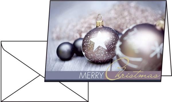 """Weihnachts Karten """"Exquisit"""" A6 (A5), 25 Karten"""
