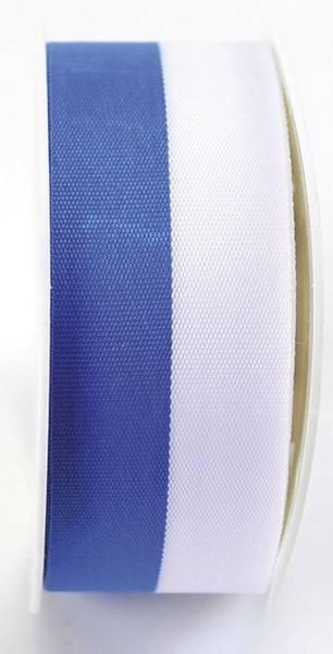Zier Acetatband 25 mm x 25 m, blau weiß