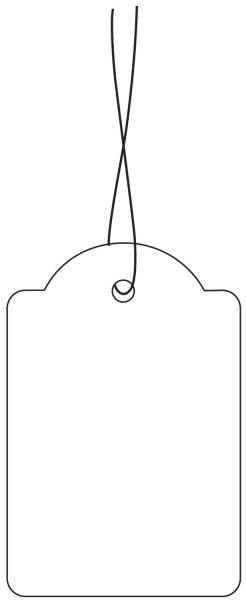 HERMA Hängeetikett 32x50 mm weiß 6948 m. weißen Faden 1000 Stück