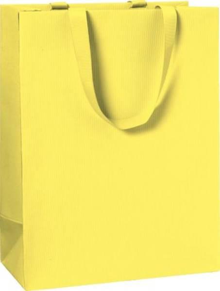 Geschenktragetasche Uni gelb groß