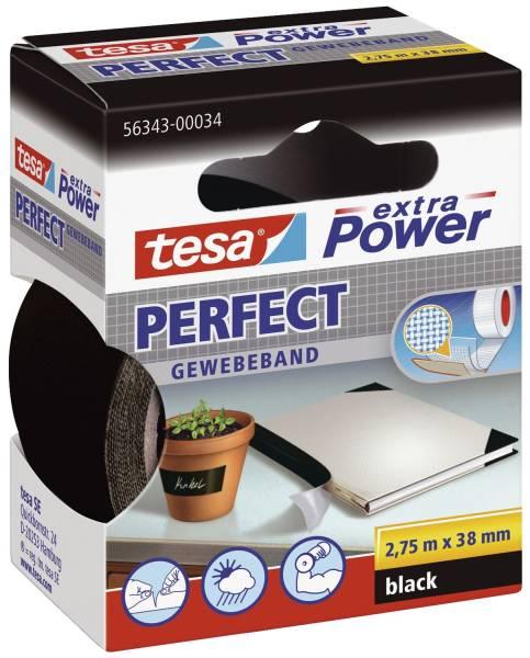 TESA Gewebeband 38mmx2,75m schwarz 56343-00034-03