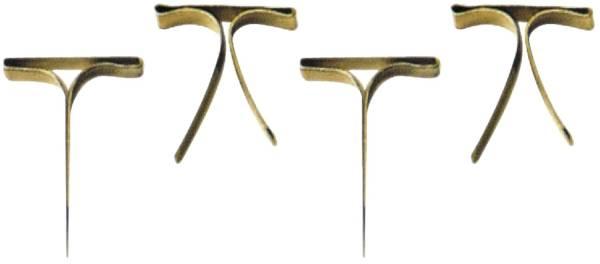 Musterbeutelklammern 100 Stück, Flachkopf, 16 mm