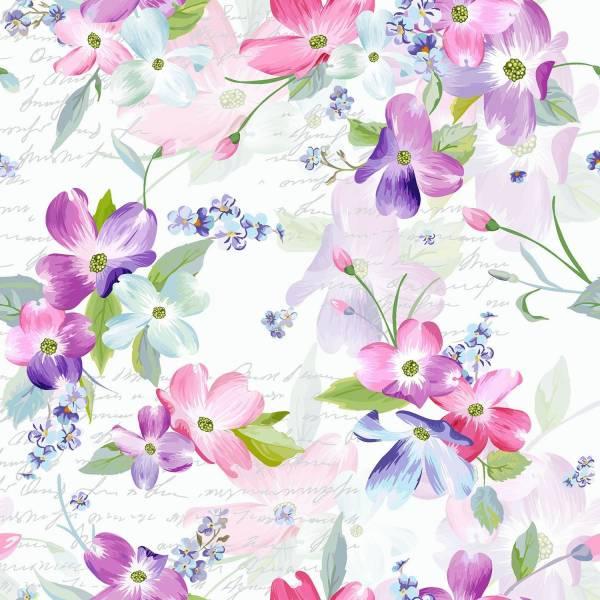 Lunchservietten Flora 33 x 33 cm, 20 Stück