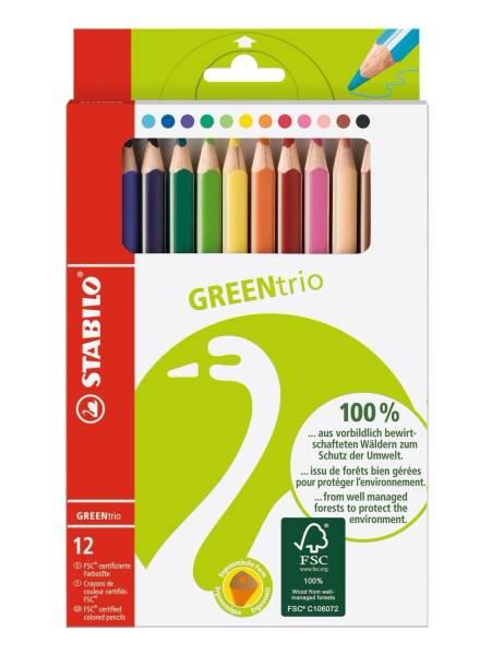 STABILO Farbstiftetui GreenTrio 12er 6203/12