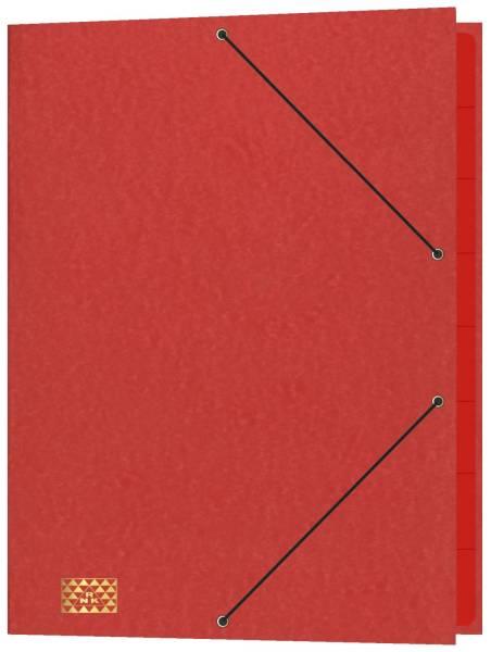 Konferenz und Ordnungsmappe mit Gummizug, für DIN A4, 9 Fächer, rot