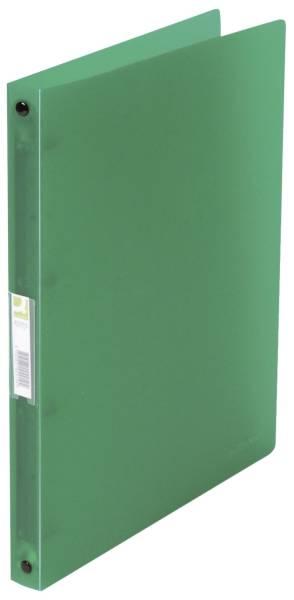Ringbuch transparent A4, 4 Ring, Ring Ø 16 mm, grün transparent