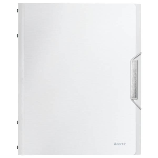 LEITZ Ordnungsmappe Style A4 arktik weiß 3995-00-04 PP 6 Fächer