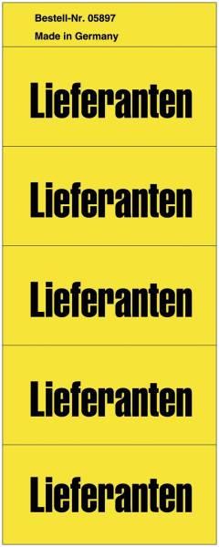 Inhaltsschilder Lieferanten Beutel mit 100 Stück, gelb
