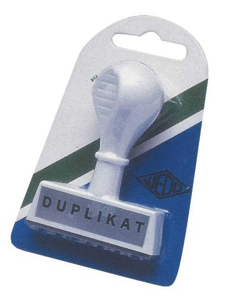 WEDO Stempel Duplikat 193 14 45x6mm