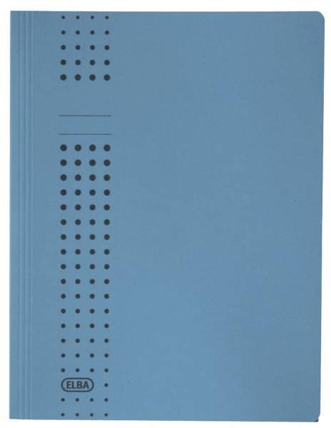 Sammelmappe chic, Karton (RC), 320 g qm, A4, 10 mm, blau