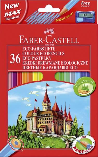 Buntstift Castle 36 Farben, hexagonal, Kartonetui mit Spitzer