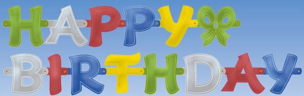 Partykette Happy Birthday
