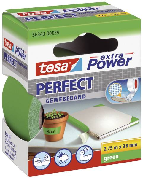 TESA Gewebeband 38mmx2.75m grün 56343-00039-03