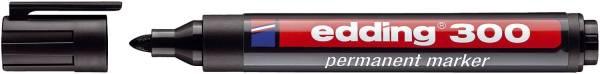 EDDING Permanentmarker 300 1,5-3mm schwarz 4-300001 Rundspitze nachfüllbar
