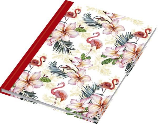 Notizbuch Flamingo rot A5, Pünktchenlineatur, 96 Blatt