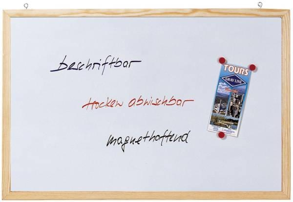 Magnetische Schreibtafel Memoboard, Wandbefestigung, 60 x 40 cm
