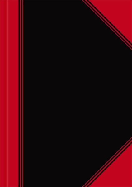 LANDRE Chinakladde A4 96Bl unliniert 100302831 schwarz/rot