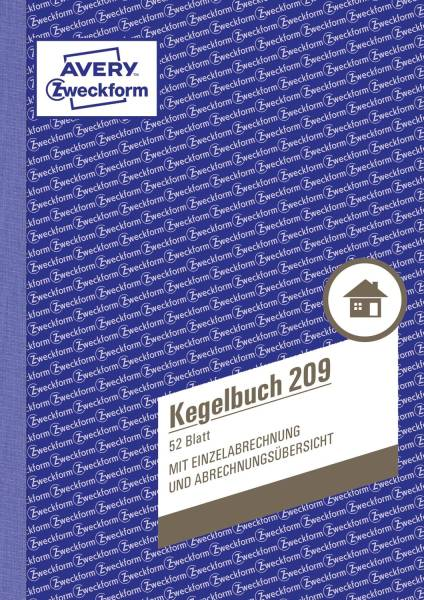 209 Kegelbuch, DIN A5, mit Statuten, 52 Blatt, weiß
